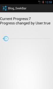how to create android widgets:Seekbar
