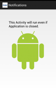 New Android Activity