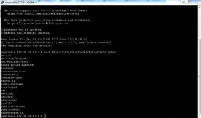 Ubuntu Instance Metadata
