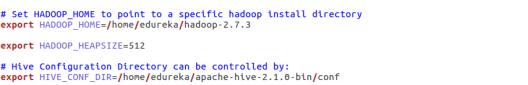 Hive Environment Configurations - Hive Installation - Edureka
