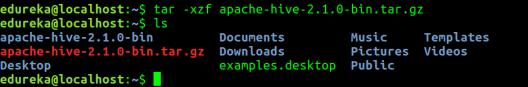Untar Hive File - Hive Installation - Edureka