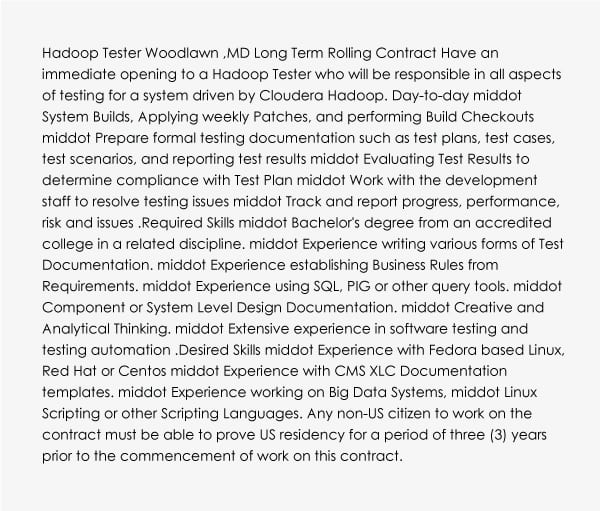 Software Testing Engineer learn Big Data and Hadoop