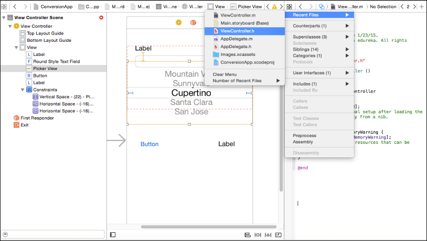 Open window in the assistant editor
