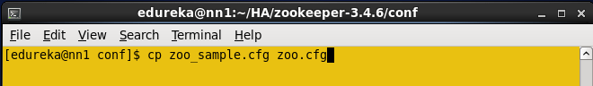 Create zoo.cfg file
