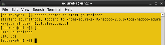Start the Journalnode