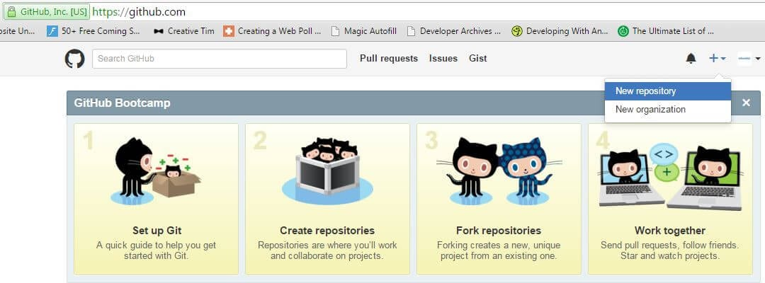 new-repository-git-and-github