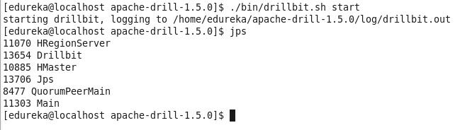 Command-jps-Apache-Drill
