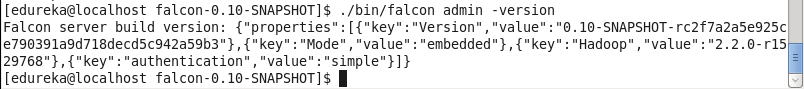 Admin-version-Apache-Falcon