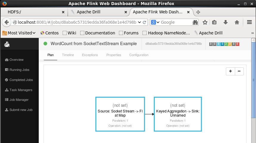 Web-dashboard-Apache-Flink