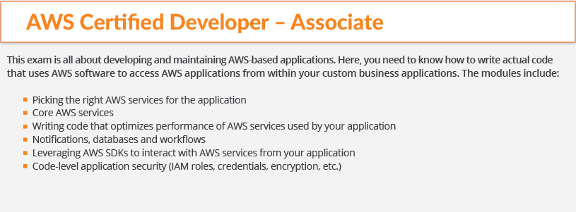 aws certification-developer-associate