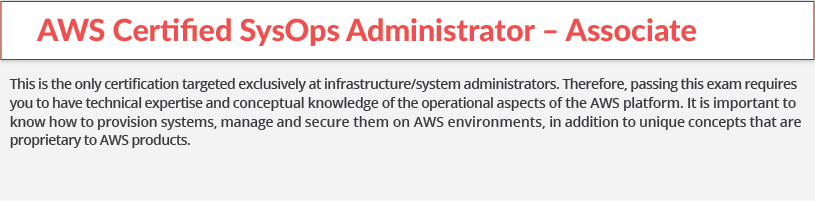 aws certification-sysops-associate