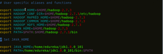 Add Java and Hadoop variables in bash - Install Hadoop - Edureka