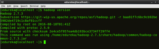 Check Hadoop version - Install Hadoop - Edureka