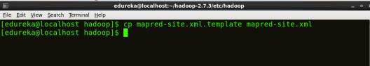 Creating mapred-site - Install Hadoop - Edureka