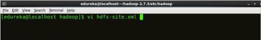 Editing Hdfs-site - Install Hadoop - Edureka