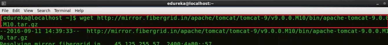 Install Tomcat Tar File - Install Jenkins - Edureka