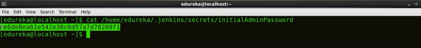 One Time - Jenkins Password - Install Jenkins - Edureka
