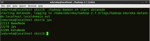 Start DataNode - Install Hadoop - Edureka
