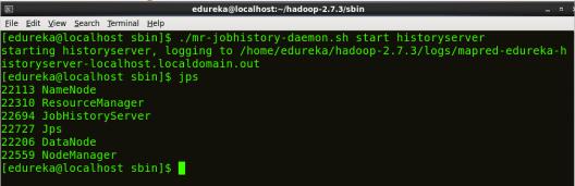 Start Job history - Install Hadoop - Edureka