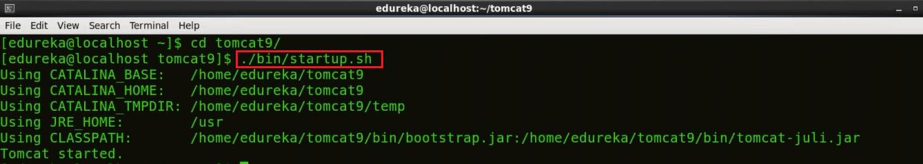 Start Tomcat - Install Jenkins - Edureka