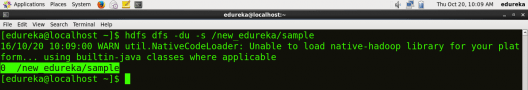 Check File Size - HDFS Commands - Edureka