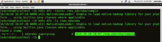 Create File in HDFS - HDFS Commands - Edureka