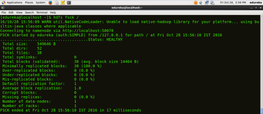 HDFS Filesystem Health - HDFS Commands - Edureka