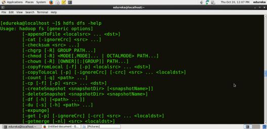 Help Command - HDFS Commands - Edureka