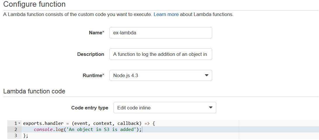 lambda-code - aws lambda tutorial