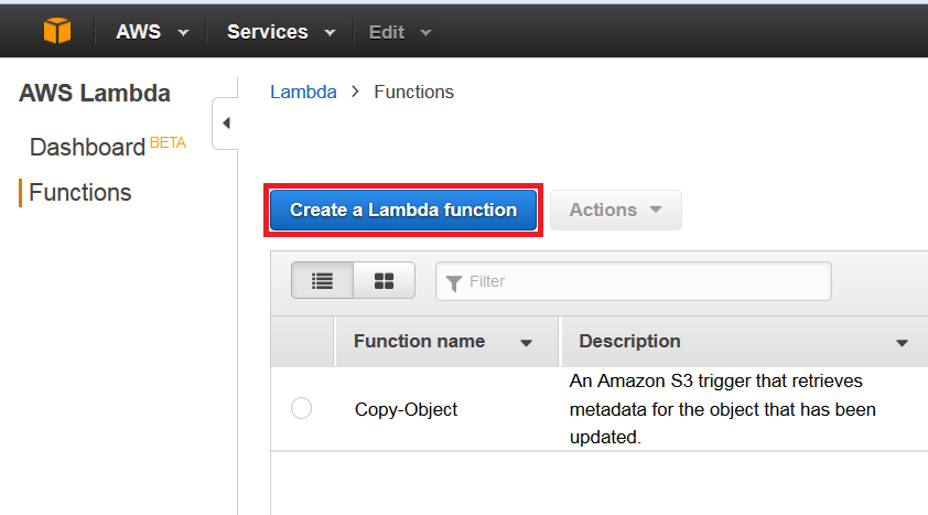 lambda-create - aws lambda tutorial