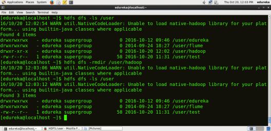 Remove Hdfs Directory - HDFS Commands - Edureka