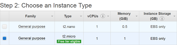 Select EC2 Instance Type - Aws EC2 Tutorial - Edureka