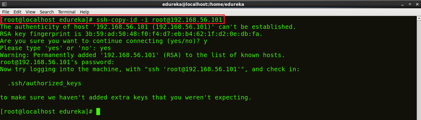 Add Ssh Key - Install Ansible - Edureka