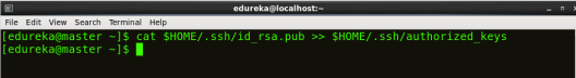 ssh Authorizing localhost - Hadoop Multi Node Cluster - Edureka