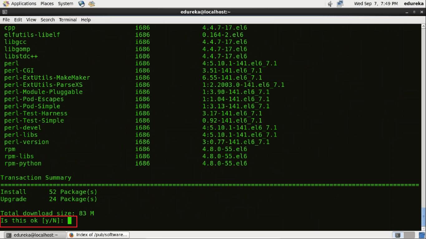 Centos Git Installation Step 2 - Install Git - Edureka