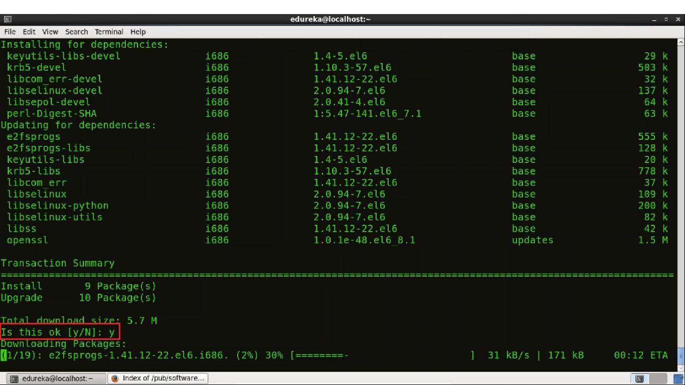 Centos Git Installation Step 4 - Install Git - Edureka