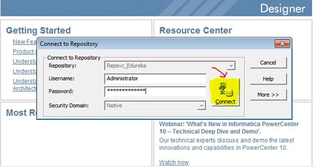 Informatica-tutorial-connecting-to-repositories