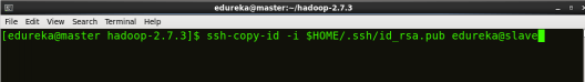 Copy master node key to slave - Hadoop Multi Node Cluster - Edureka
