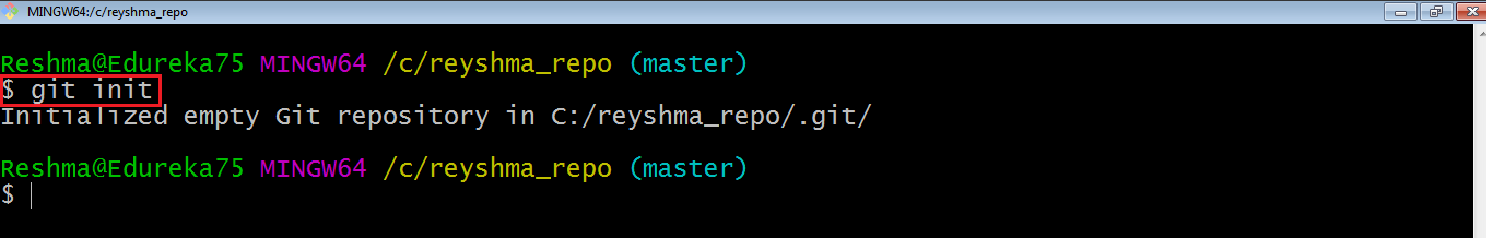 Git Initialize example