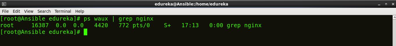 Grep Nginx - Install Ansible - Edureka