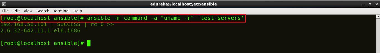 Kernel Version - Install Ansible - Edureka