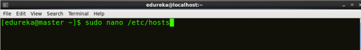 Open hosts file - Hadoop Multi Node Cluster - Edureka