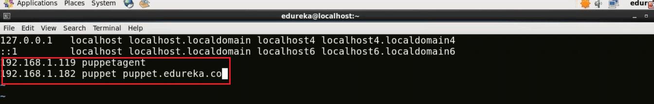 Puppet Agent Hosts File - Install Puppet - Edureka