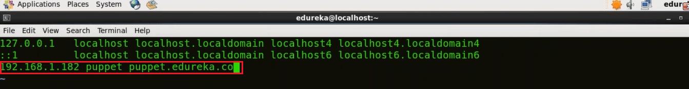 Puppet Slave Hosts File - Install Puppet - Edureka