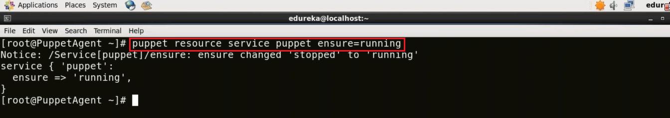 Start Puppet Agent - Install Puppet - Edureka