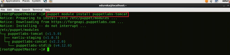Tomcat Module - Install Puppet - Edureka