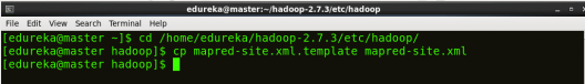 copy mapred-site from template - Hadoop Multi Node Cluster - Edureka