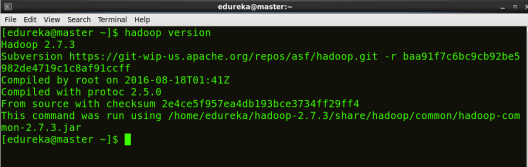 hadoop version - Hadoop Multi Node Cluster - Edureka