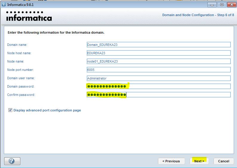 Informatica-installation-domain-6 - Informatica installation - Edureka
