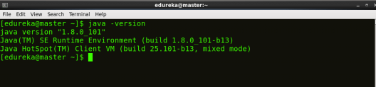 java version - Hadoop Multi Node Cluster - Edureka